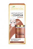 Make-Up  HIGHLIGHT & CONTOUR bronzujúci rozjasňovač pleti  BRONZE 15ml
